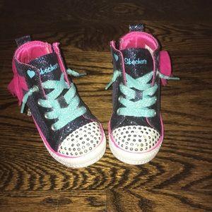 Toddler girl Twinkle Toes Skecher 's sneakers